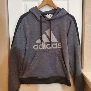 Adidas Pullover Black And Gray Boys Hoodie